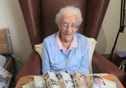 Westbury Court Care Home, Wiltshire-Betty can't wait to get stuck into her wartime sagas