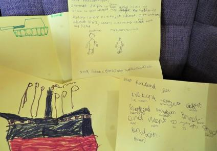 Westbury Court Care Home, Wiltshire-Fantastic letters and drawings