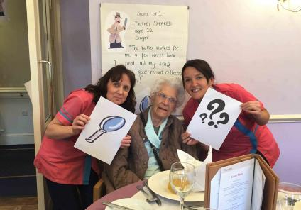 Cepen Lodge Care Home in Chippenham solved the mystery of 'who killed the butler?'. Resident Muriel and Magic Moments Club Co-ordinators Ali and Alison believe suspect Britney Speared is the culprit!