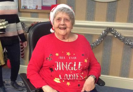 Resident Eileen is getting in the Christmas spirit!
