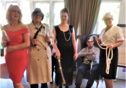Bamfield Lodge Care Home in Whitchurch held their own live game of Cluedo dressed up as the characters! Resident Graham played the victim and the team members dressed as Miss Scarlett, Inspector Cluedo, Mrs Peacock and Mrs White