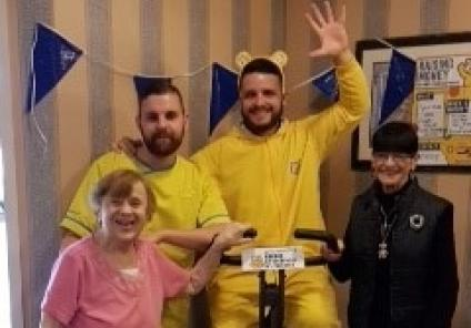Bike A Thon At Hall Park Care Home
