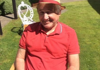 Residents at Lawton Rise Care Home in Stoke on Trent enjoy the summer sun
