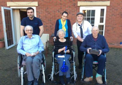 Elm Bank Care Home in Kettering enjoyed a mystery clue hunt throughout the home in teams. It led team members and residents out into the garden with metal detectors to find the buried treasure!