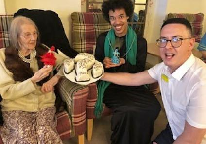 Mill House Care Home in Witney had a live-action game of cluedo solving 'Who stole the cake?'. The winning team were resident Sylvia, carer Ashley (who played reverend Green) and Home Manager Michael