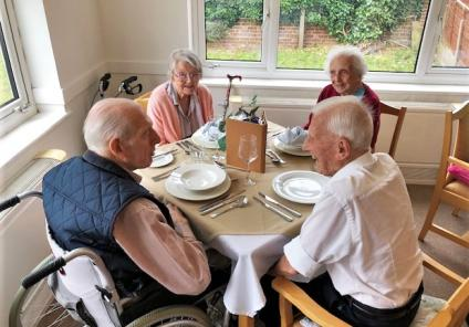 Residents at Cossins House Care Home enjoy making friendships over lunch