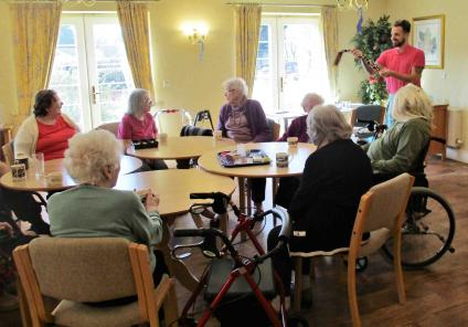 Avery Lodge in Grantham had their own Sherlock Homes themed day, with a detective game, themed quiz and their own homemade game of Cluedo. In the morning residents memory skills were tested with a detective game to guess the missing item