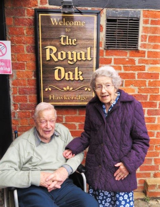 Residents at Westbury Court Care Home enjoy a visit to their favourite pub in Wiltshire